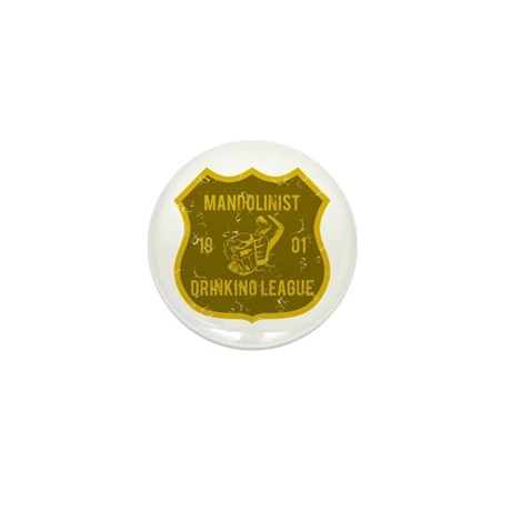 Mandolinist Drinking League Mini Button