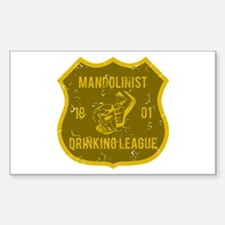 Mandolinist Drinking League Rectangle Decal