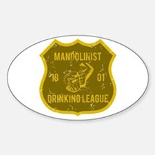 Mandolinist Drinking League Oval Decal