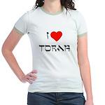 I Heart Torah Jr. Ringer T-Shirt