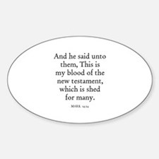 MARK 14:24 Oval Decal