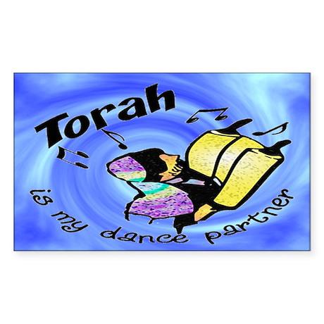 Torah is My Dance Partner Rectangle Sticker
