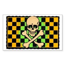 Skull and Crossbones Rectangle Decal