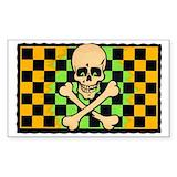 Skull car decal Single