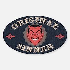 Original Sinner Oval Decal