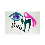 Chai Breast Cancer Awareness Rectangle Magnet (100