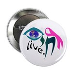 Chai Breast Cancer Awareness Button