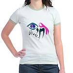 Chai Breast Cancer Awareness Jr. Ringer T-Shirt
