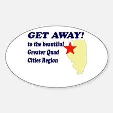 Get Away to the Quad Cities Oval Decal