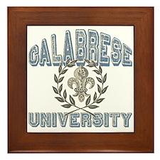 Calabrese Last Name University Framed Tile