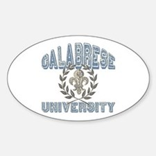 Calabrese Last Name University Oval Decal