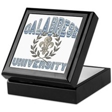 Calabrese Last Name University Keepsake Box