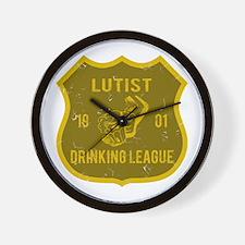 Lutist Drinking League Wall Clock