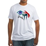 Chai HIV / AIDS Awareness Fitted T-Shirt