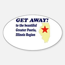 Get Away to Peoria, Illinois Oval Decal