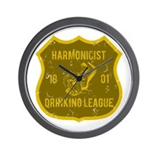 Harmonicist Drinking League Wall Clock