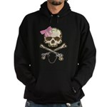 Skull and Crossbones with Pin Hoodie (dark)