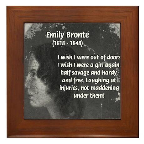 Novelist: Emily Bronte Framed Tile