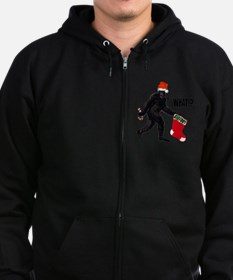Bigfoot Big Stocking WHAT! Ch Zip Hoodie