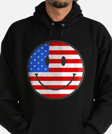 Smiley Face Fourth Of July Hoodie (dark)