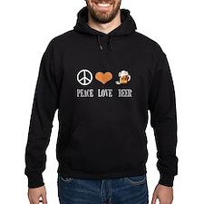 Peace Love Beer Hoodie
