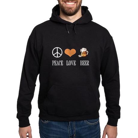 Peace Love Beer Hoodie (dark)
