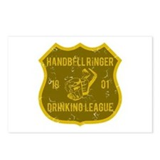Handbell Ringer Drinking League Postcards (Package
