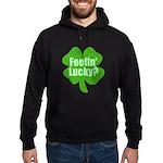 Feelin Lucky? Funny St. Patri Hoodie (dark)