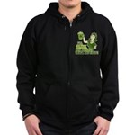 Drink You Bitches Under The Table Zip Hoodie (dark
