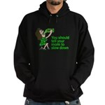 Tell your mom to slow down Hoodie (dark)