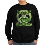 Peace Love And Leprechauns Sweatshirt (dark)