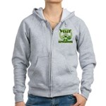 Peace Love And Leprechauns Women's Zip Hoodie