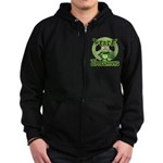 Peace Love And Leprechauns Zip Hoodie (dark)