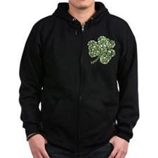 Cute Ireland skull and crossbones Zip Hoodie