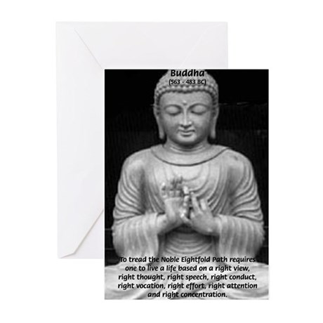 Gautama Siddhartha (Buddha) Greeting Cards (Packag