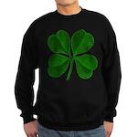 Lucky Four Leaf Clover Sweatshirt (dark)