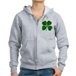 Lucky Four Leaf Clover Women's Zip Hoodie