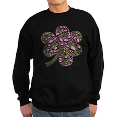 Gothic Pink Skulls Shamrock Sweatshirt
