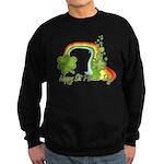 Happy St Patricks Day Rainbow Sweatshirt (dark)