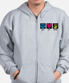 Peace, Love, Massage Zip Hoodie