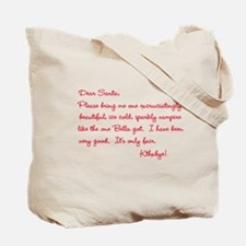 Twilight Edward Christmas Tote Bag