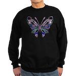 Ornate Butterfly Tattoo Sweatshirt (dark)