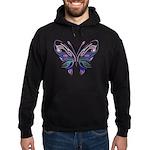 Ornate Butterfly Tattoo Hoodie (dark)
