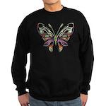 Retro Mod Butterfly Style B6 Sweatshirt (dark)