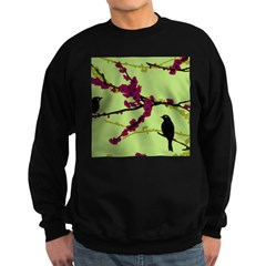 Vintage Retro Black Bird Sweatshirt