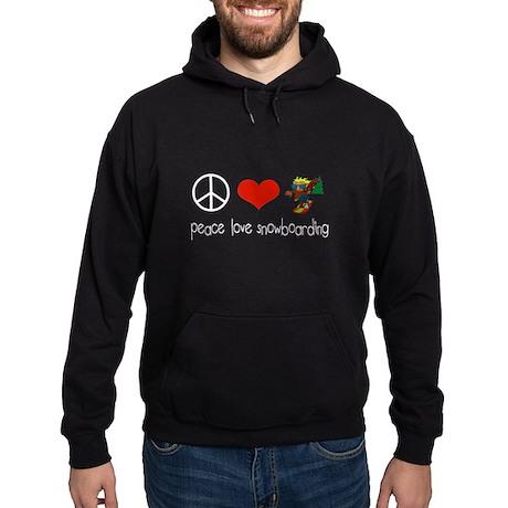 Peace Love Snowboarding Hoodie (dark)