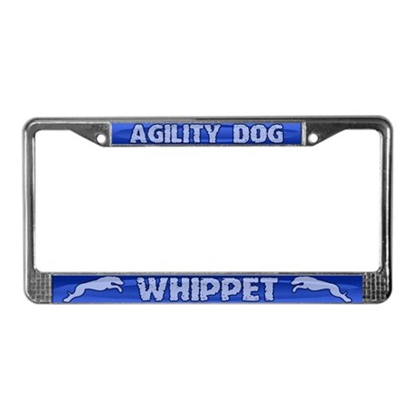 Agility Whippet License Plate Frame