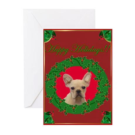 Happy Holidays French Bulldog Greeting Cards (Pk o