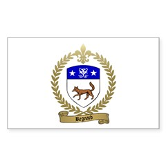 REGNARD Family Crest Rectangle Decal