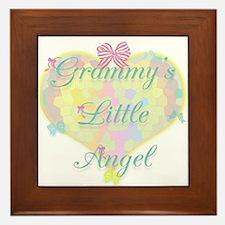 Grammy's Little Angel Framed Tile